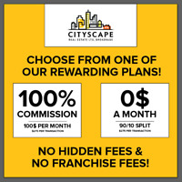 100% COMMISSION AND NO MONTHLY FEES FOR ALL REALTORS!