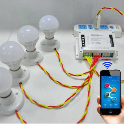 Sonoff 4CH Smart Module Socket Remote Control Automation Switch WiFi Wireless