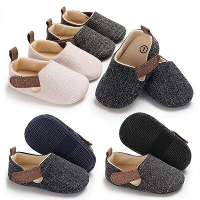 Newborn Infant Baby Kids Shoes Toddler Boy Soft Sole Crib Shoes Prewalker 0-18M - Infant Boys Crib Shoes