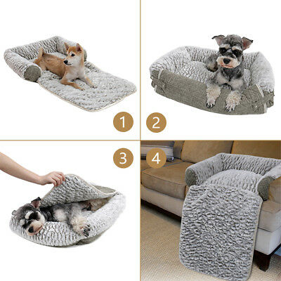 M Luxury Pet Sofa Bed Pad Dog Cat 3 in 1 Couch Mat Cover Cozy Kennel Pad Cushion