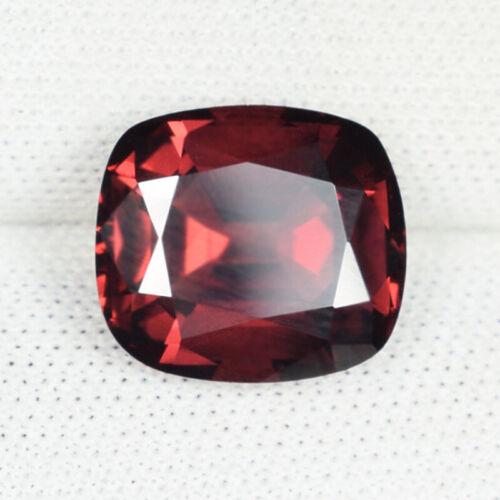 4.42 ct LUSTROUS - PURPLE  RED NATURAL RHODOLITE GARNET AAA CUT  See Vdo 5853 SK
