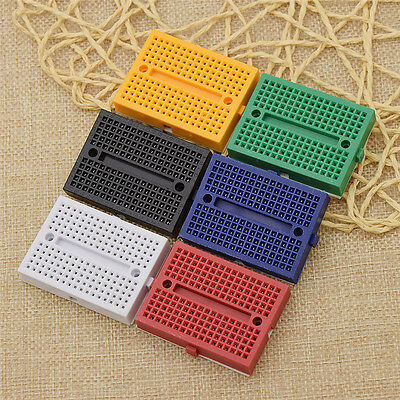Pack Of 5 Mini Solderless Prototype Breadboard For Arduino 170 Tie-points Pic Pi