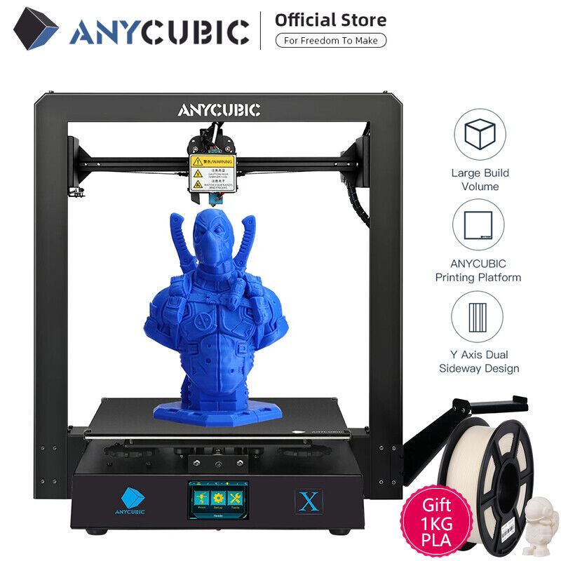 Anycubic Mega X 3D Printer TFT Screen Resume Ptint Metal Big Print Size 1KG PLA