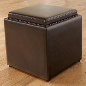 Ashley Signature Bonded Leather Storage Cubes Black