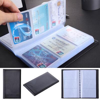 120 Card Folder Business Card Case Simulation Leather Card Storage Organizer New