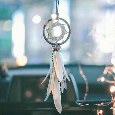 Dream Catcher Car Rearview Mirror Pendant Feather Decor Auto Ornament Hang Charm ()