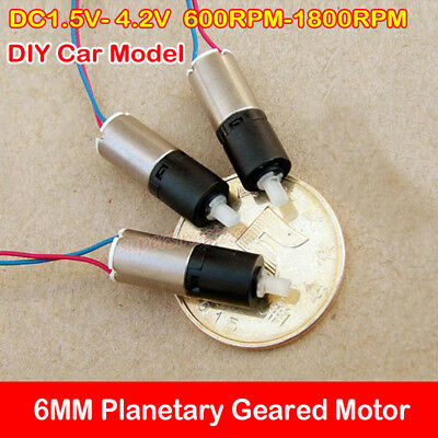 Micro Mini Planetary Gear Motor 6mm Dc 3v 1200rpm Coreless Gearbox Diy Robot Car