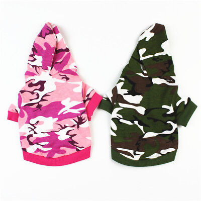 Small Pet Cat Shirt Coat Camouflage Outfit Chihuahua Dog Apparel Bichon Clothes