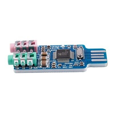 Free driver USB Sound Card CM108 USB Sound Card Chip Blue J3J1