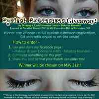 Free Eyelash Extensions - contest see details