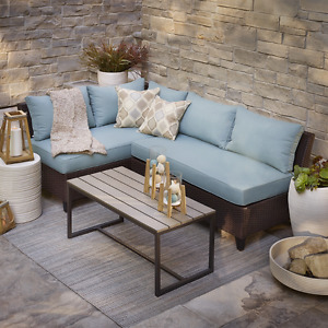 Allen and Roth Patio Sectional and Coffee Table