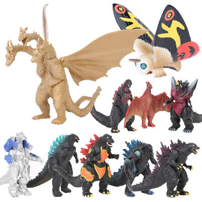 Toy Monsters (10Pcs/ Set Godzilla 2 Mechagodzilla Gigan Anguirus Action Figure PVC Gift)