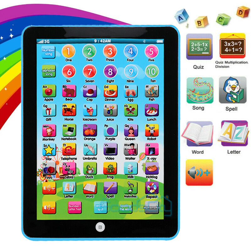 Educational Learning Tablet for Age 2 3 4 5 6 7 8 Year Old Boys Girls Kids Toy
