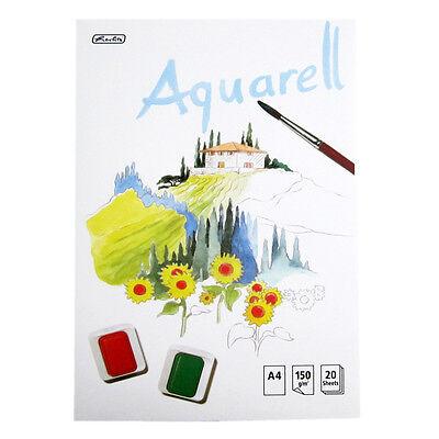 Herlitz Aquarellblock Din A4 20 Blatt 150g/qm