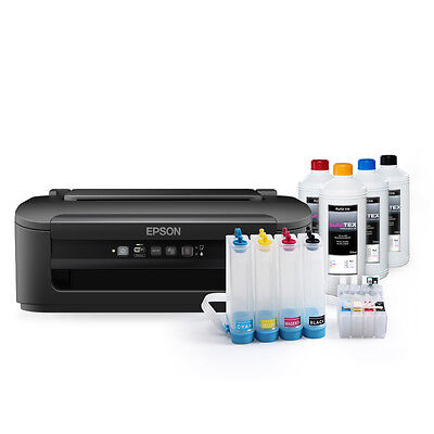 Sublimationsdrucker Epson® WF-2010 inkl. CISS System, 400ml Tinte + Papier