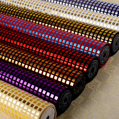 Gingham Sequins Fabric Sheet WallPaper Table Runner Wall Border Decor DIY Bows](Gingham Decorations)