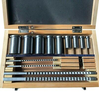 22pcs Keyway Broach Bushing Shim Set Metric System 12-30 Hss Keyway Tool Cnc Ts