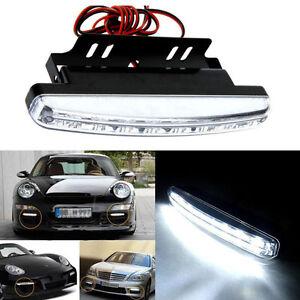 8 led jour conduite feu de position drl voiture lumi re de brume lampe. Black Bedroom Furniture Sets. Home Design Ideas