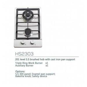 Double-head Gas Stove(Natural Gas, Stainless Steel Panel) 024475