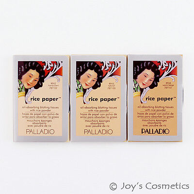 Oil Blotting Rice Papers - 3 PALLADIO Rice Paper Blotting Oil Absorbing Tissues