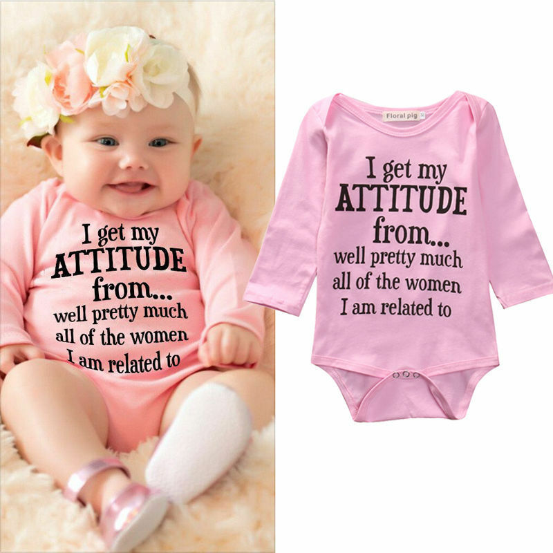 Cotton Newborn Infant Kids Baby Girls Bodysuit Romper Jumpsuit Clothes Outfits