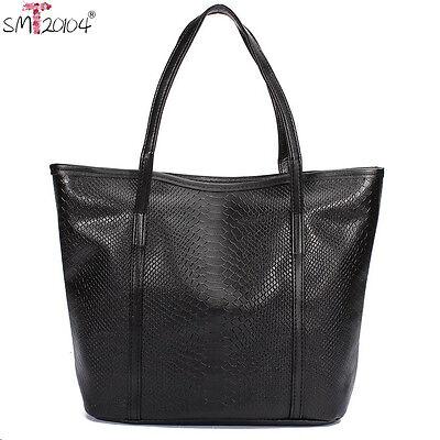 2016Women Fashion Crocodile Leather shoulder Bag Handbag Travel Large Tote Purse