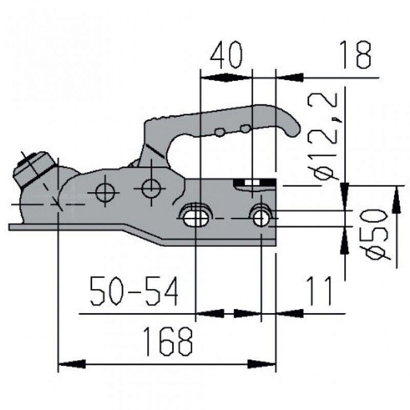 Alko Zugkugelkupplung AK300 AK 300 Ausf.A Kupplung bis 3000 kg Klaue Anhänger