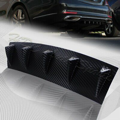 "1 x Carbon Style Rear Lower Bumper Diffuser Fin Spoiler Lip Wing Splitter 23""x6"""