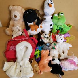 Plush toys teddies bundle