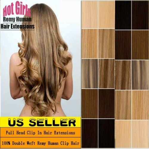 Real THICK 160g++ Double Weft Clip In Remy Human Hair Extens