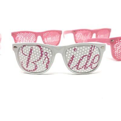 Bachelorette Bridal Party Favor Pink Sunglasses 6 Piece Set Wedding Photo Props