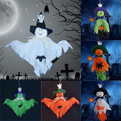 Halloween Ghost Pumpkin Hanging Scary Doll Indoor Outdoor Party Decoration New