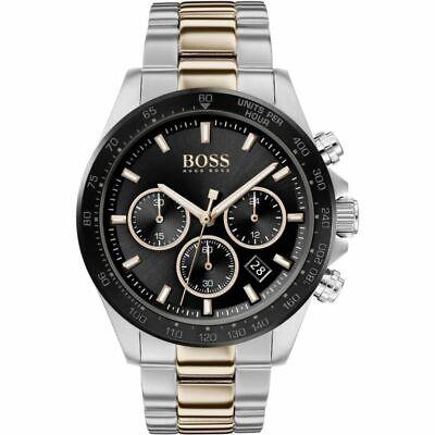 HUGO BOSS® watch Hero Sport Lux Black Dial Two Colour Bracelet Watch HB 1513757
