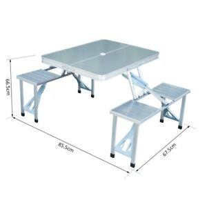 Suitcase Picnic Table with 4 Seats, Portable Folding Camp (New)