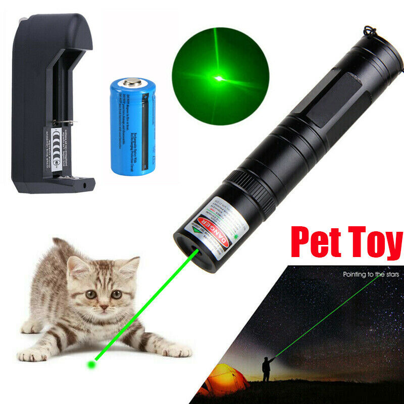 900Miles 1mw Green Laser Pointer 532nm Rechargeable Lazer Pen Visible Single Dot