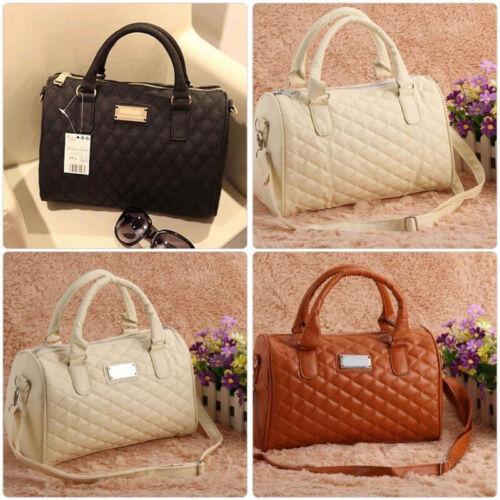 Women Large PU Leather Handbag Shoulder Bag Tote Messenger S