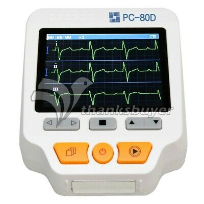 Easy Ecg Pc-80d Portable Ecg Monitor Machine Three Channels W 3.5 Lcd Display