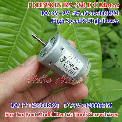 Dc 6v-9v 7.4v 32500rpm High Speed Large Torque Johnson Rs-380 Motor Diy Toy Car