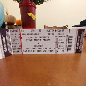 Stone Temple Pilots tickets for Sale. Oct 27th