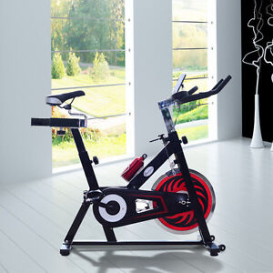 Stationary Exercise Bike Cardio Pedal Cycle Belt Drive Trainer W