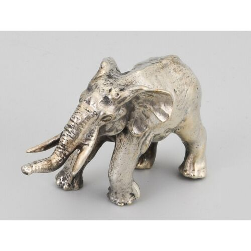 Vintage 20th Italy Rare Original Silver Elephant Figurine 90gr