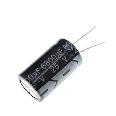 2pcs 25v 6800uf 25volt 6800mfd 105c Aluminum Electrolytic Capacitor 1630mm