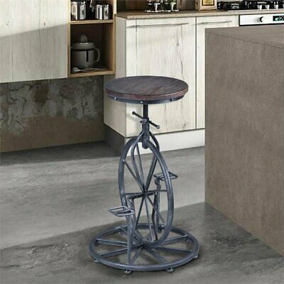 Dining Room Collection Bar Stool - Hawthorne Collections Adjustable Bar Stool in Industrial Gray