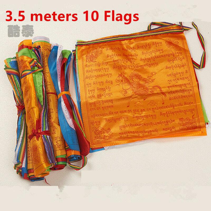 10 Flags Tibetan Buddhist Prayer Flags Contain Decorative Scriptures Tibet Style