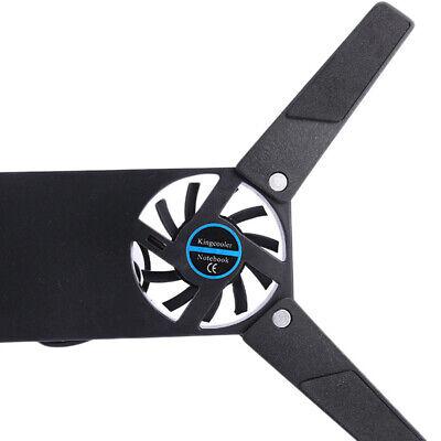 Soporte de enfriamiento de ventilador plegable USB 2 para computadora portátil
