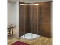Quadrant shower enclosure and stone tray. Brand New