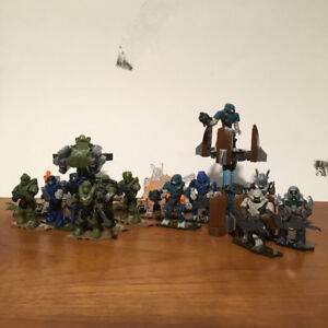 Mega Bloks / Construx Halo mini figures and playsets collection