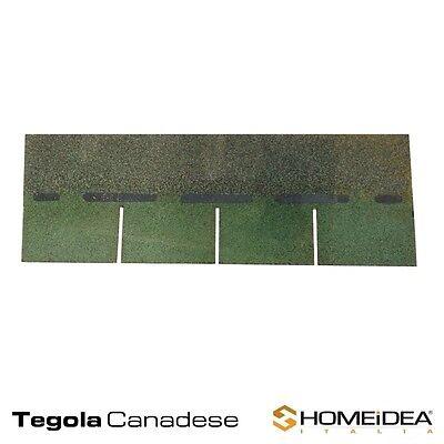 Tegola canadese rossa, tegola canadese verde - Coperture tetti fogli da 1 mt