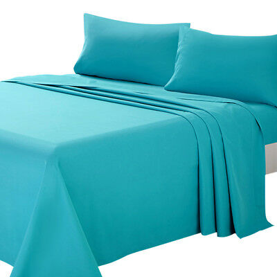 4 Pieces Bed Sheet Set Twin Full Queen King Brushed Microfiber 1800 Thread Count
