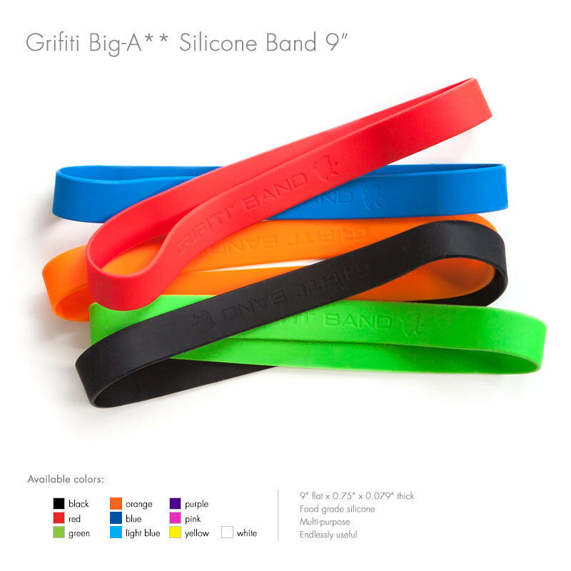 """Grifiti Band Joes 9"""" 5 Pack Assorted Cooking Grade Silicone Rubber Bands"""